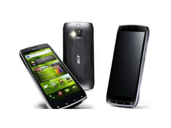 Acer S300 Iconia Smart Font and Back View