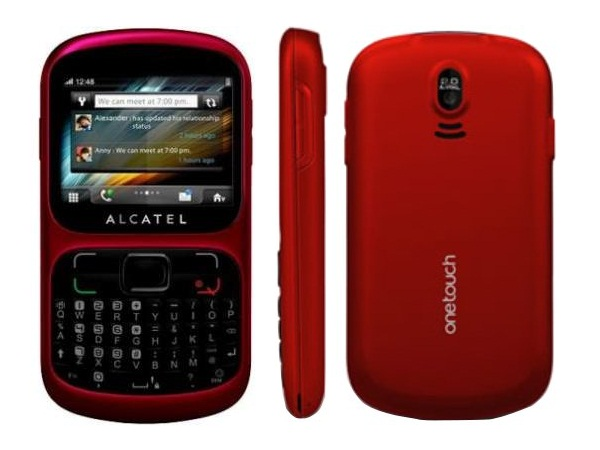 Alcatel OT 813D Front, Side and Back View