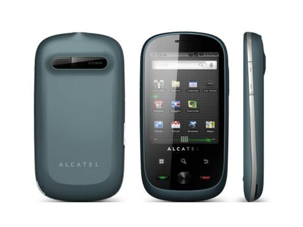 Alcatel OT 890D Front, Back and Side View