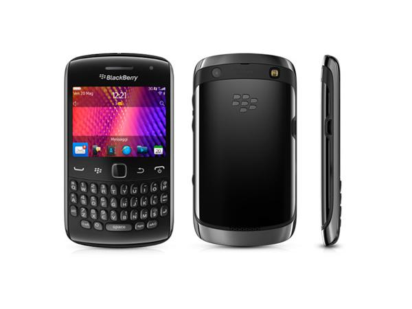 BlackBerry Curve 9360 Front, Back and Side View