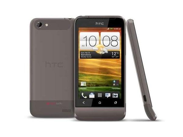 HTC One V Front, Back and Side View