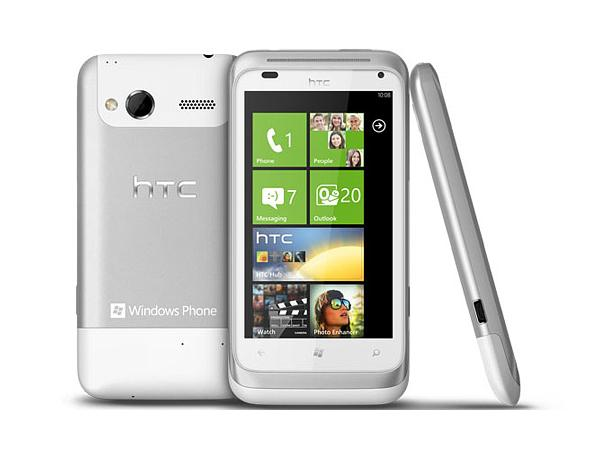 HTC Radar White Front, Back and Side View