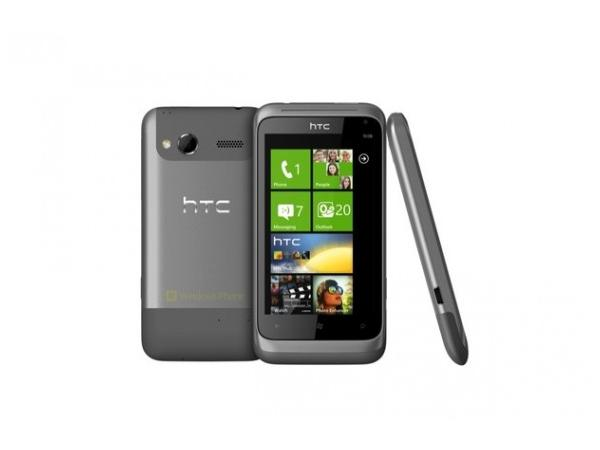 HTC Radar Metal Silver Front, Back and Side View
