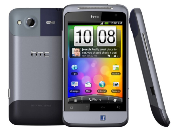 HTC Salsa Back, Front and Side View