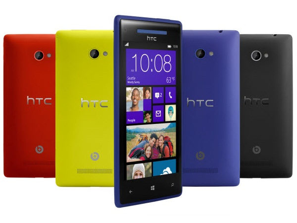 HTC Windows Phone 8X Colours View