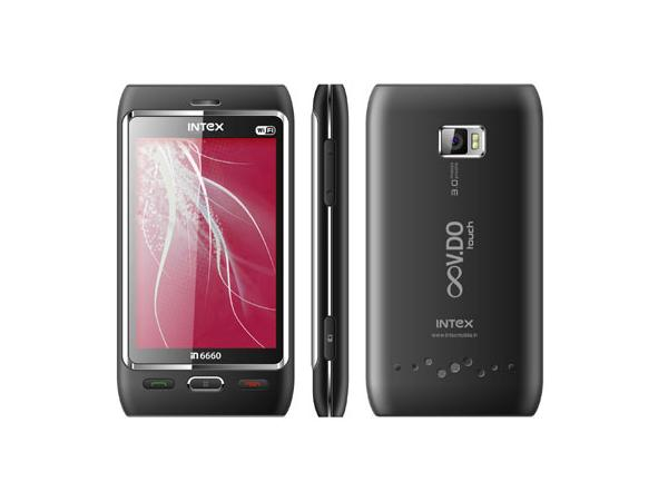 Intex IN6660 V.DO Touch WIFI Front,Side & Back