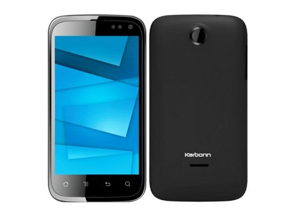 Karbonn A15 Front & Back View