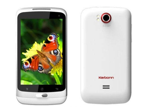 Karbonn A7 Front & Back View