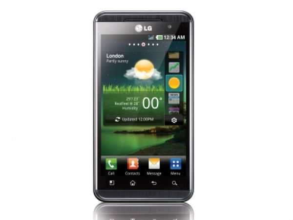 LG Optimus Hub E510 Front View
