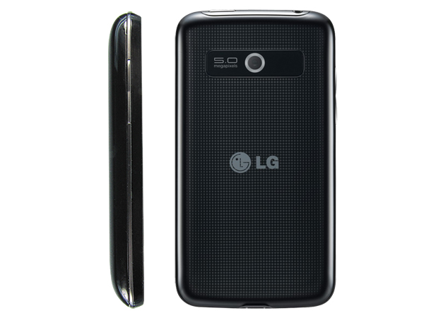 LG Optimus Hub E510 Back and Side View