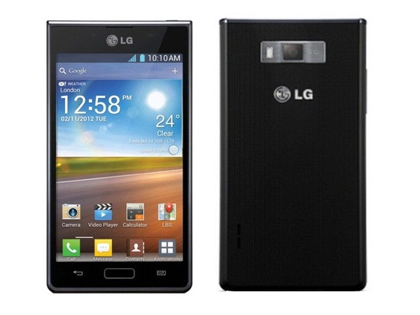 LG Optimus L7 P705 Front & Back View
