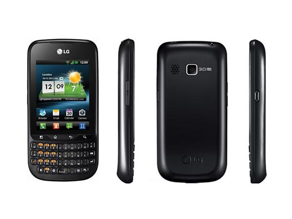 LG Optimus Pro C660 Front, Back and Side View