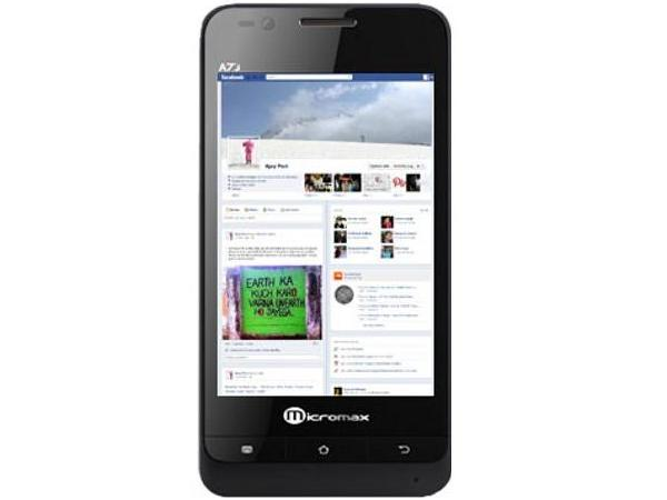 Micromax A73 Front View