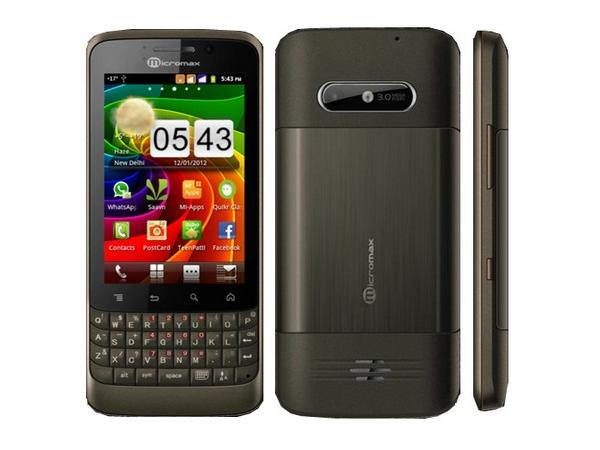Micromax A78 Front,Side and Back View