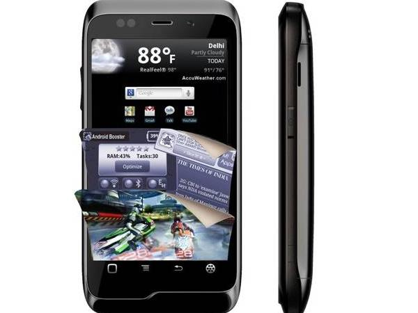 Micromax A85 Front and side view