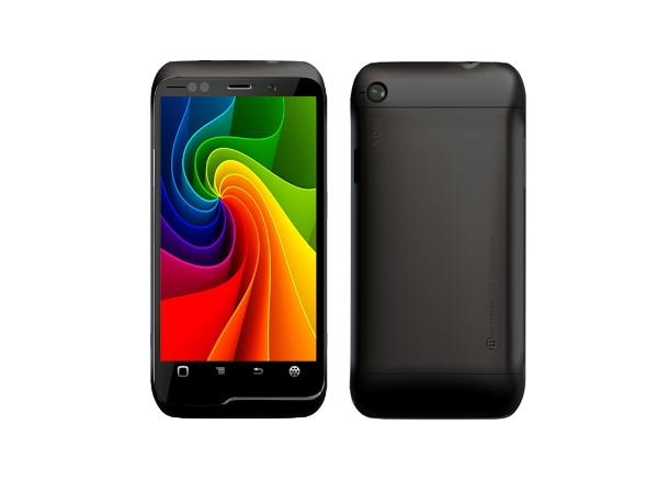 Micromax A85 Front and Back View