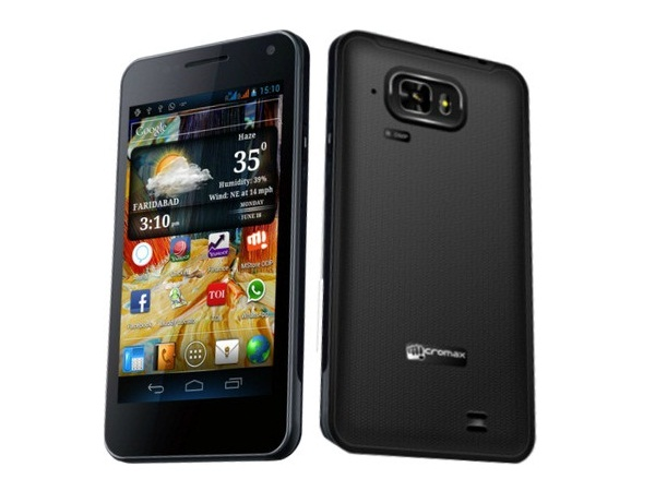 Micromax A90S Front and Back View