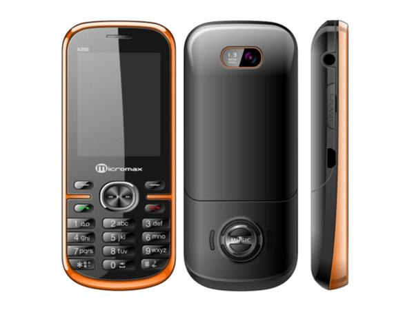 Micromax  X261  Front, Back and Side View