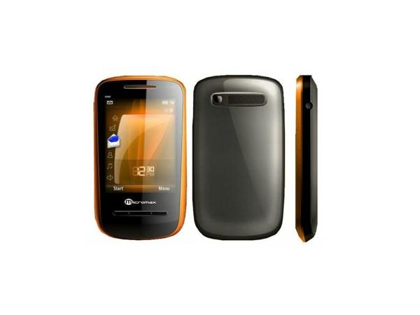 Micromax X333 Front, Back and Side View