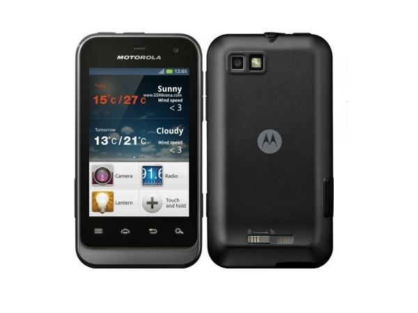 Motorola Defy Mini XT320 Front and Back View