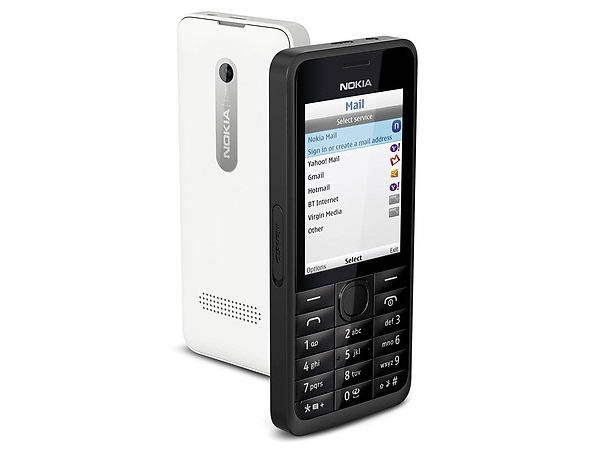 Nokia 301 Dual Sim Front & Back View