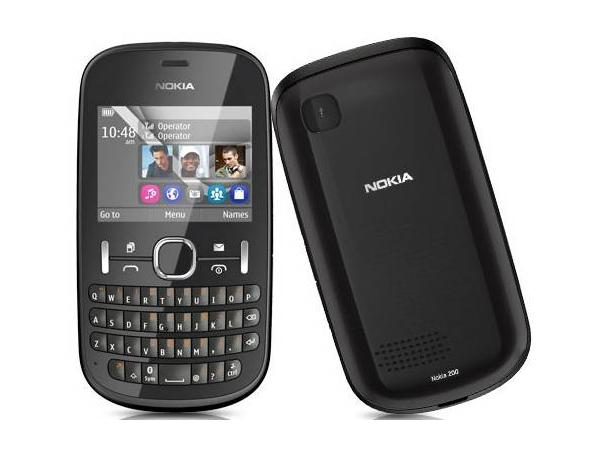 Nokia Asha 200 Front and Back View