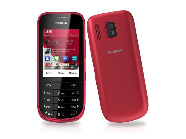 Nokia Asha 202 Front and Back View