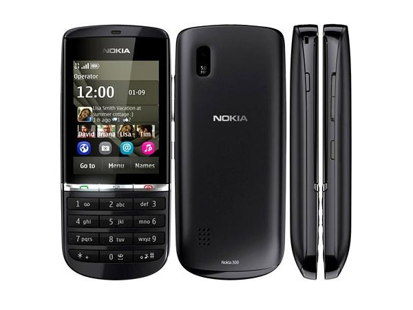 Nokia Asha 300 Front, Back and Side View