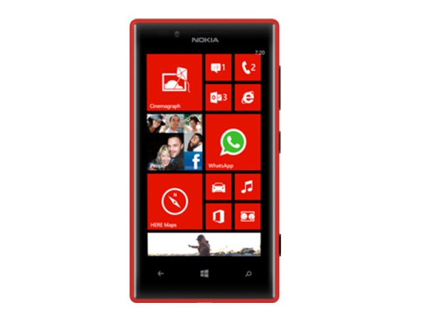 Nokia Lumia 720 Front View
