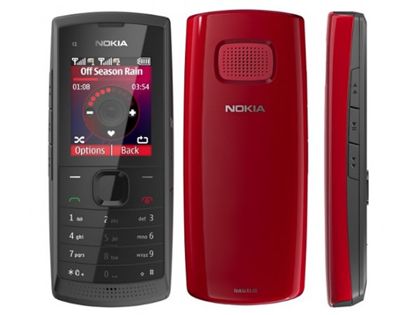 Nokia X1-01 Front, Back and Side View