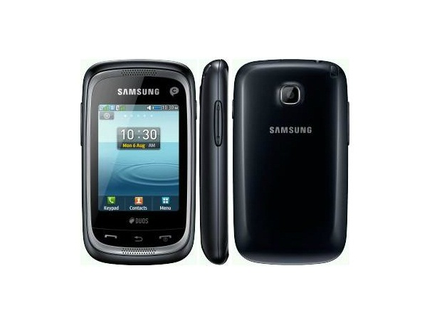 Samsung Champ Neo Duos C3262 Front, Side and Back