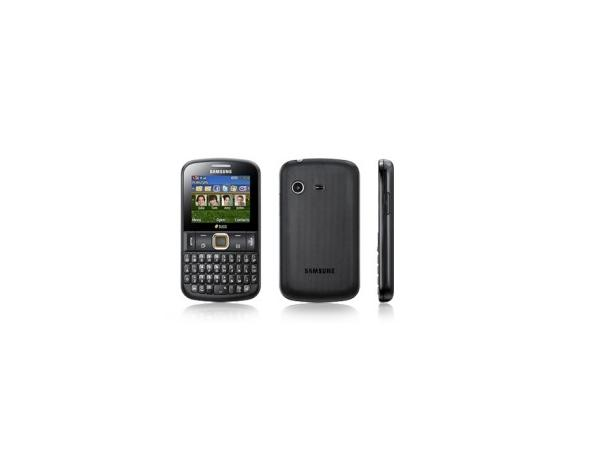 Samsung chat 222 Front, Back and Side View