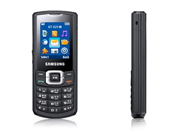 Samsung E2130 Front & Side View