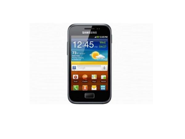 Samsung Galaxy Ace Plus S7500 front view