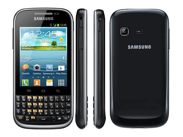 Samsung Galaxy Chat B5330 Front Side and Back View