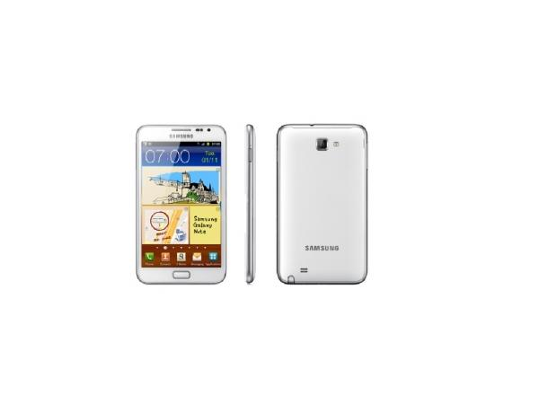 Samsung Galaxy Note Front, Side and Back View