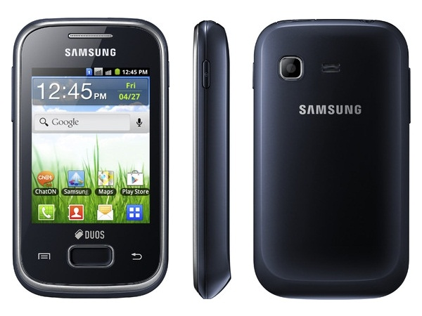 Samsung Galaxy Y DUOS S5302 Front, Side and Back
