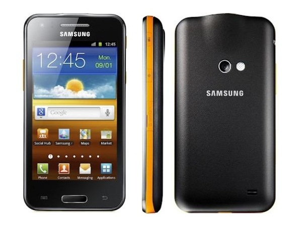 Samsung I8530 Galaxy Beam Front, Side and Back Vie