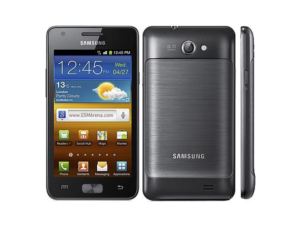 Samsung Galaxy R Front, Back and Side View