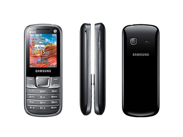Samsung Metro E2252 Front, Side and Back View