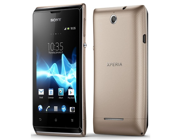 Sony Xperia E Front & Back View