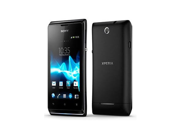 Sony Xperia E Dual Front & Back View