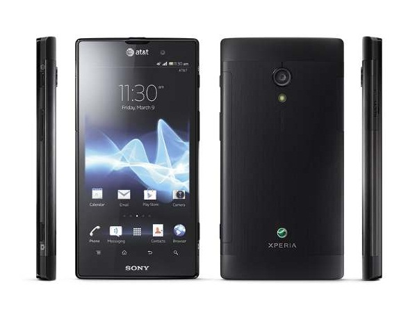 Sony Xperia ion Front, Side and Back View