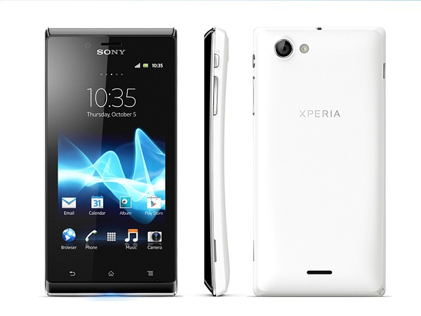 Sony Xperia J All Side View