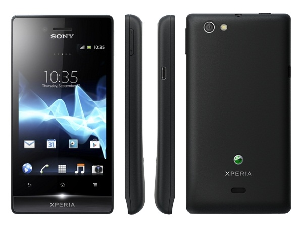 Sony Xperia miro Front, Side and Back View