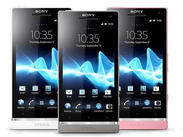Sony Xperia SL Colours View