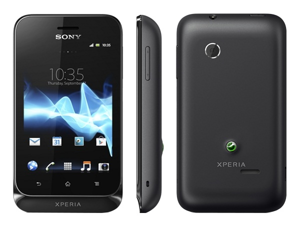 Sony Xperia tipo Front, Side and Back View