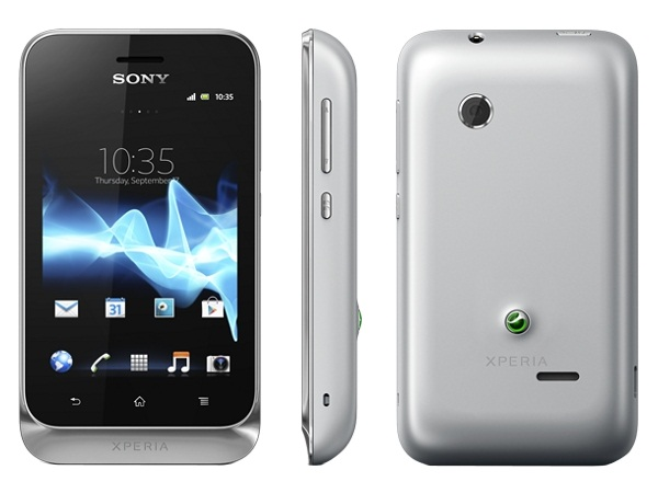 Sony Xperia tipo dual Front, Side and Back View
